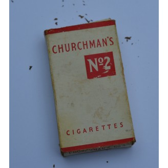 C1940's  VINTAGE 'Churchmans No 2' Cigarette Packet